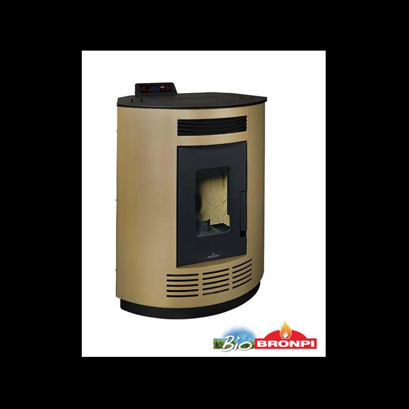 Calor estufa de pellet 8kw rincon color dorado mod nina do - Estufa de calor ...